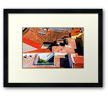Roof Puzzle Framed Print