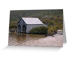 Dove Lake Boat House Greeting Card
