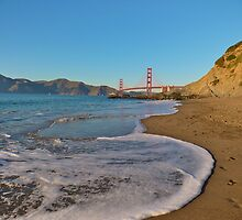 Golden Gate Bridge view from Baker Beach by Svetlana Day
