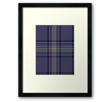 00468 Blue Toon District Tartan  Framed Print