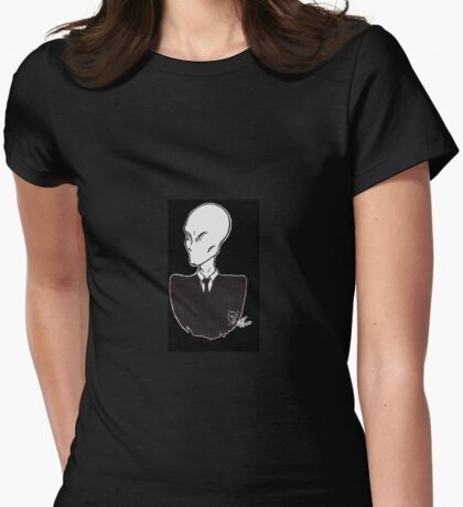 The Slender Man Womens Fitted T-Shirt