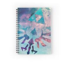 Watercolored Hylian Crest Spiral Notebook
