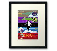 NO MAN'S SKY Minimalist Poster Framed Print