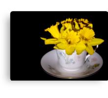 Daffodil Tea Canvas Print