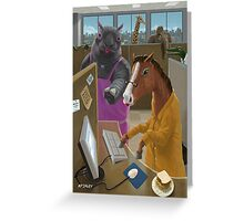Animal Office Greeting Card