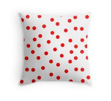 Red Polka Dot Bed Cover Throw Pillow