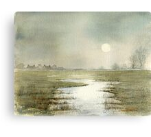marsh cottages Canvas Print