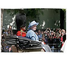 The Queen Trooping the colour  Poster