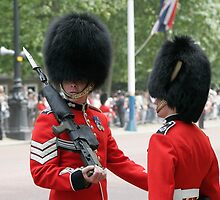 Soldiers in full bearskin headdress by Keith Larby