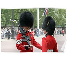 Soldiers in full bearskin headdress Poster