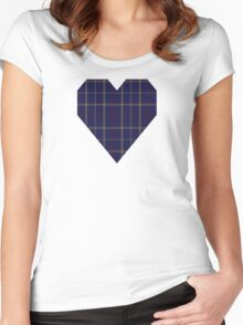 00470 Tattersall Blue Fashion Tartan  Women's Fitted Scoop T-Shirt