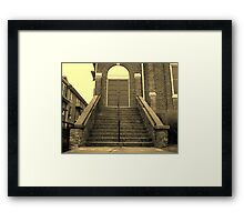 Ex-Church Steps and Entrance Framed Print