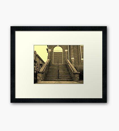 Ex-Church Steps and Entrance Framed Print