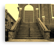 Ex-Church Steps and Entrance Canvas Print