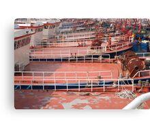 Boat Decks Canvas Print