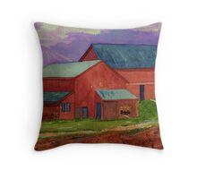 Glowing Georgia Clay Watercolor  Throw Pillow