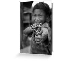 Lao child Greeting Card