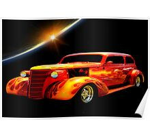flaming hot rod Poster