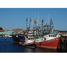 Trawlers in Gloucester Massachusetts Photographic Print