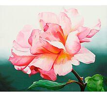 """Leaping Salmon""- English rose Photographic Print"