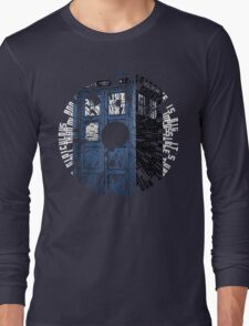 Doctor Who Quotes Tardis  Long Sleeve T-Shirt