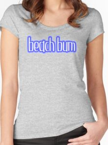 Beach Bum Blue Women's Fitted Scoop T-Shirt