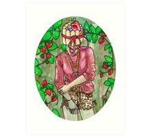 strawberry charlotte Art Print