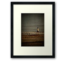 Waiting for the fish Framed Print