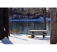 Snowy day at Old Davidsonville State Park Photographic Print