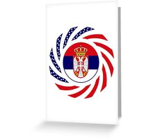 Serbian American Multinational Patriot Flag Series Greeting Card
