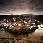 Winter sun over Staithes by Dave Hudspeth