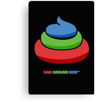 raw ground beef Canvas Print