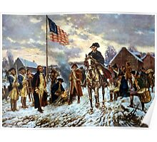 Washington At Valley Forge Poster