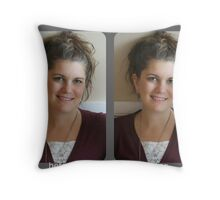 before & after Throw Pillow