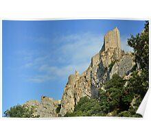 Château de Peyrepertuse - d'en Bas Poster