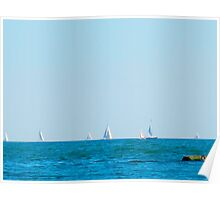 Sailing on Lake Ontario Poster