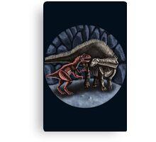 Allosaurus and Diplodocus Canvas Print