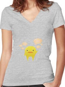 Yellow Creator - Vector Character Women's Fitted V-Neck T-Shirt