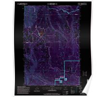 USGS Topo Map Oregon Jubilee Lake 280353 1995 24000 Inverted Poster
