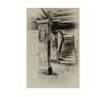 Wooden Staircase Art Print