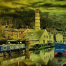 Canal At Hebden Bridge by Sandra Cockayne