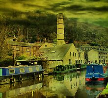 Canal At Hebden Bridge by Sandra Cockayne