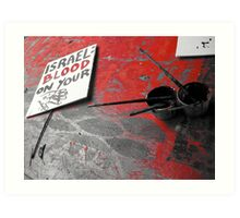 Protest Sign  Art Print
