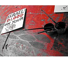 Protest Sign  Photographic Print