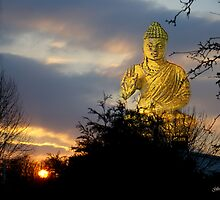 Buddha Sunset by Gilberte