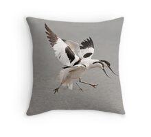 Dancing Avocets Throw Pillow