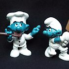The Chef & The Cricketer Smurf by Bev Pascoe
