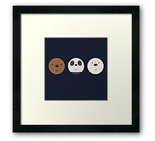 We Bare Bears Framed Print