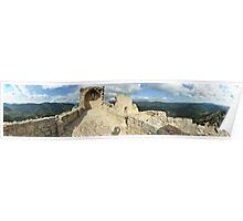 Peyrepertuse - Panorama from above. Poster