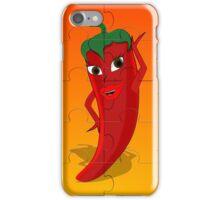 Red Pepper Diva Jigsaw Puzzle iPhone Case/Skin